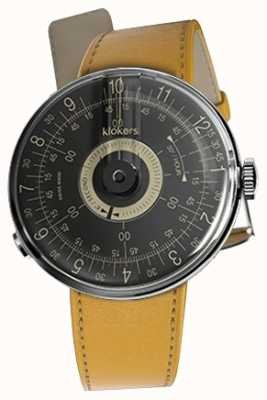 Klokers Klok 08 cadran noir newport jaune bracelet simple KLOK-08-D3+KLINK-01-MC7.1