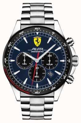 Scuderia Ferrari | pilota hommes | bracelet en acier inoxydable | cadran bleu | 0830598