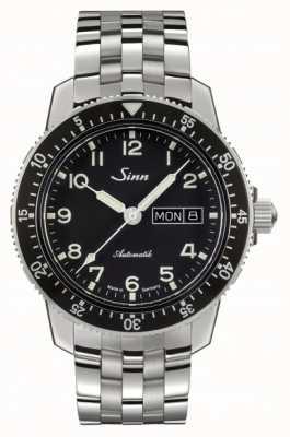 Sinn 104 st sa une montre pilote classique en acier inoxydable 104.011 FINE LINK BRACELET