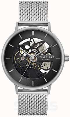 Kenneth Cole | mens automatique | bracelet en maille d'acier | cadran noir | KC50780005