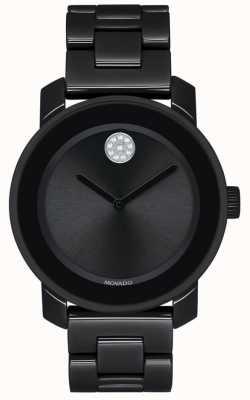 Movado | audacieux | bracelet plaqué pvd noir | cadran noir | 3600535