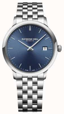 Raymond Weil   toccata pour hommes   acier inoxydable classique   cadran bleu   5485-ST-50001