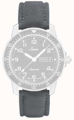 Sinn Gris Alcantara, bracelet en cuir gris couture 123.4