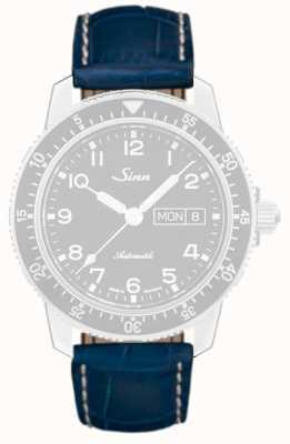 Sinn Bracelet en cuir à imprimé alligator bleu 1234.5