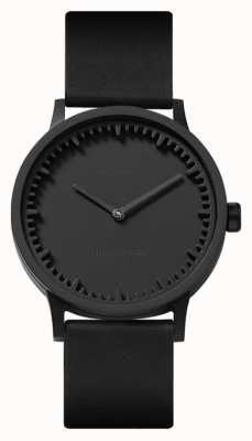 Leff Amsterdam | montre de tube | t32 | noir | bracelet en cuir noir | LT74212