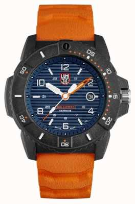 Luminox Marine Seal 3600 series | bracelet en caoutchouc orange | cadran bleu XS.3603