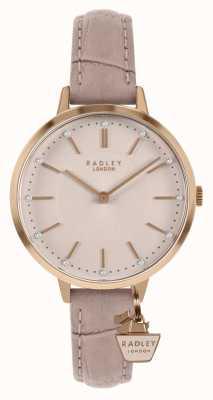 Radley | bracelet en cuir nude pour femme | cadran rose | RY2802