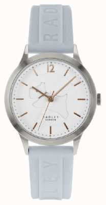 Radley | bracelet en silicone bleu poudre pour femme | cadran blanc | RY2819