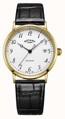Rotary Buckingham des hommes 9ct. montre en or GS11476/18