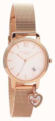 Radley   Bracelet en maille d'or rose pour femme   cadran en or rose   RY4390