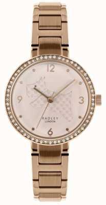 Radley | Bracelet femme acier et or rose | découper le cadran de chien | RY4394
