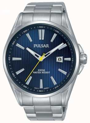 Pulsar | bracelet en acier inoxydable pour hommes | cadran bleu | PS9603X1