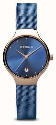 Bering Femmes | classique | bracelet en maille bleu plaqué pvd bleu 13326-368