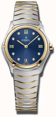 EBEL Classique de sport pour femmes | cadran bleu | bracelet en acier inoxydable 1216446A
