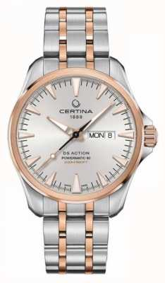 Certina | ds action day-date powermatic 80 | acier inoxydable | C0324302203100