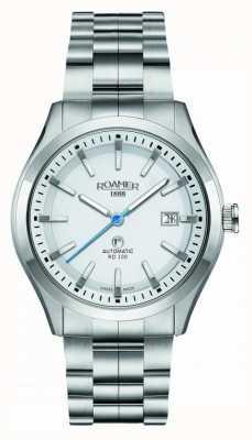 Roamer | automatique rd100 | bracelet en acier inoxydable | cadran blanc | 951660 41 25 90