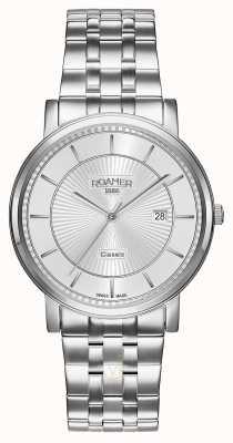 Roamer | ligne classique | bracelet en acier inoxydable | cadran argenté | 709856 41 17 70
