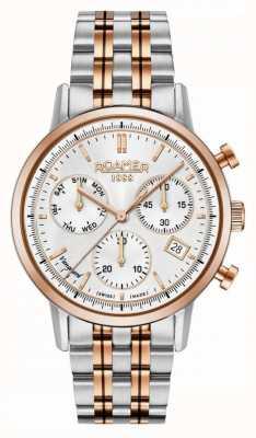 Roamer Vanguard chrono ll | acier inoxydable deux tons | cadran blanc 975819-49-15-90