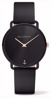 Paul Hewitt | Mesdames Miss Ocean | bracelet en cuir noir | PH-M-B-BS-32S