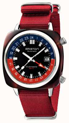 Briston Clubmaster gmt édition limitée | automatique | sangle nato rouge 19842.SA.T.P.NR