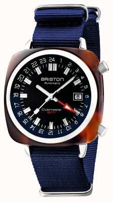 Briston Clubmaster gmt édition limitée | automatique | sangle nato bleue 19842.SA.T.9.NNB