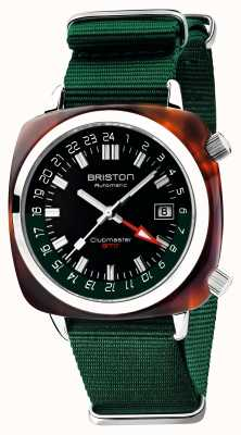 Briston Clubmaster gmt édition limitée | auto | sangle verte de l'OTAN 19842.SA.T.10.NBG
