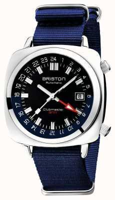 Briston Clubmaster gmt édition limitée | auto | sangle nato bleue 19842.PS.G.9.NNB