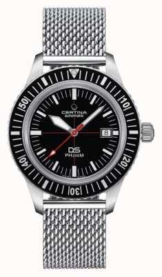 Certina | ds ph200m | bracelet en acier inoxydable | cadran noir | C0364071105000