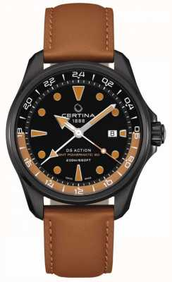Certina | mens ds action powermatic | bracelet en cuir marron | C0324293605100
