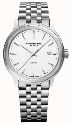 Raymond Weil Mens | maestro | automatique | cadran blanc | acier inoxydable 2237-ST-30011