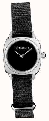 Briston   dame clubmaster   bracelet unique en nato noir   cadran noir   19924.S.M.1.NB - SINGLESTRAP
