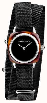 Briston | dame clubmaster | single noir nato | acétate de tortue | 19924.SA.T.1.NB