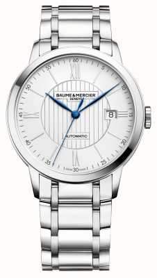 Baume & Mercier | hommes classima | automatique | acier inoxydable | cadran argenté BM0A10215