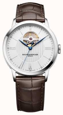 Baume & Mercier | hommes classima | cuir marron | cadran argenté | automatique | BM0A10274