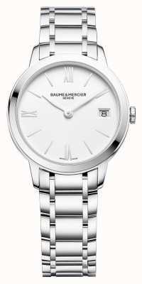 Baume & Mercier | femmes classima | bracelet en acier inoxydable | cadran blanc | BM0A10335