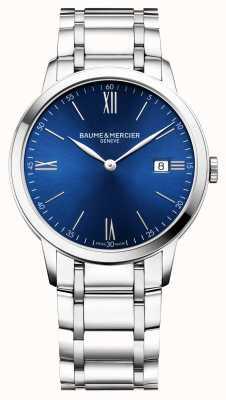 Baume & Mercier | hommes classima | bracelet en acier inoxydable | cadran bleu | BM0A10382