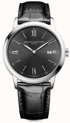 Baume & Mercier | hommes classima | cuir noir | cadran gris ardoise | BM0A10416