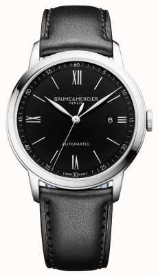 Baume & Mercier | hommes classima | automatique | cuir noir | cadran noir | BM0A10453