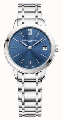 Baume & Mercier | femmes classima | acier inoxydable | cadran bleu sunray | BM0A10477