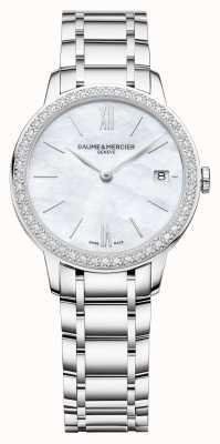 Baume & Mercier | femmes classima | lunette diamant | bracelet en acier inoxydable BM0A10478