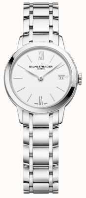 Baume & Mercier | classima femmes | bracelet en acier inoxydable | cadran blanc | M0A10489