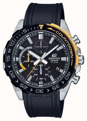 Casio | édifice classique | bracelet en caoutchouc noir | jour date affichage | EFR-566PB-1AVUEF