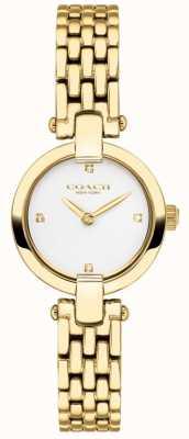 Coach | les femmes | chrystie | bracelet doré pvd | cadran blanc | 14503391