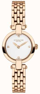 Coach | les femmes | chrystie | bracelet pvd or rose | cadran blanc | 14503392