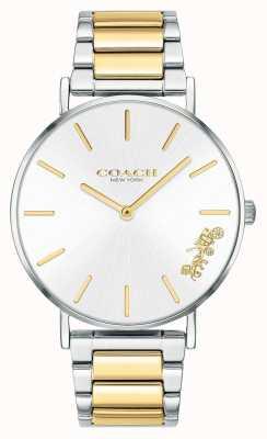 Coach | femmes | poiré | bracelet deux tons | cadran argenté | 14503347