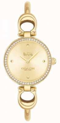 Coach | les femmes | parc | bracelet en pvd doré | cadran en or | 14503446