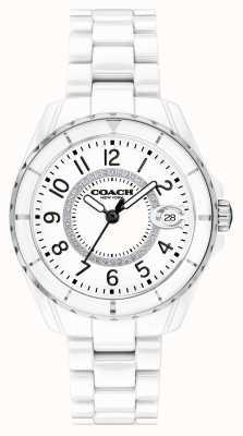 Coach | les femmes | preston | bracelet en céramique blanche | cadran blanc | 14503462