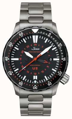 Sinn U2 sdr minuterie de mission u-boat en acier 1020.040bracelet