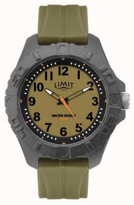 Limit | analogique adulte actif pour homme | bracelet en caoutchouc vert | 5753.01