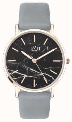 Limit | jardin secret des femmes | bracelet en cuir gris | cadran noir | 60046.73